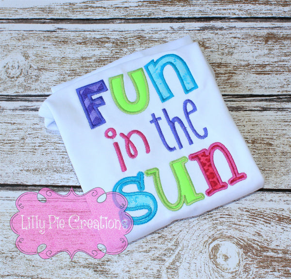 Fun in the Sun Kids Summer Shirt - Lilly Pie Creations