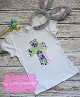 Girls Cross Shirt - Girls Easter Cross- Girls Christian Shirt