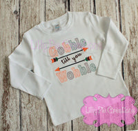 Gobble Til you Wobble Thanksgiving Shirt - Boys Thanksgiving Shirt
