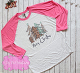 Ladies Merry Christmas Shirt - Lilly Pie Creations