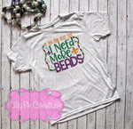 Mardi Gras Youth Tee - If You Can Read this I Need More Beads