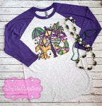Mardi Gras Shirt - Water Color Mardi Gras Ladies T-Shirt