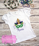 Girls Unicorn Mardi Gras Shirt- Lilly Pie Creations
