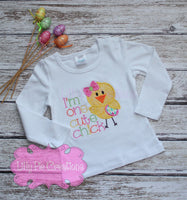 One Cute Chick Easter Shirt - Cute Easter Shirt for Girls Baby, Toddler, Big and Little Girls