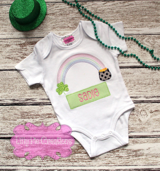 Rainbow and Pot of Gold Personalized Shirt - Perfect for St. Patrick's Day