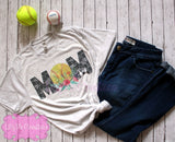 Softball Mom Shirt, Softball Mom Tank Top,  Softball Mom Raglan