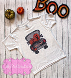Halloween Pumpkin Truck Boys Shirt - Kids Halloween Truck Shirt
