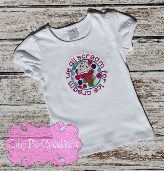 Ice Cream Shirt - Lilly Pie Creations
