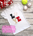 Baseball Love Kids Applique Shirt, Girls Softball, Boys Baseball Tee