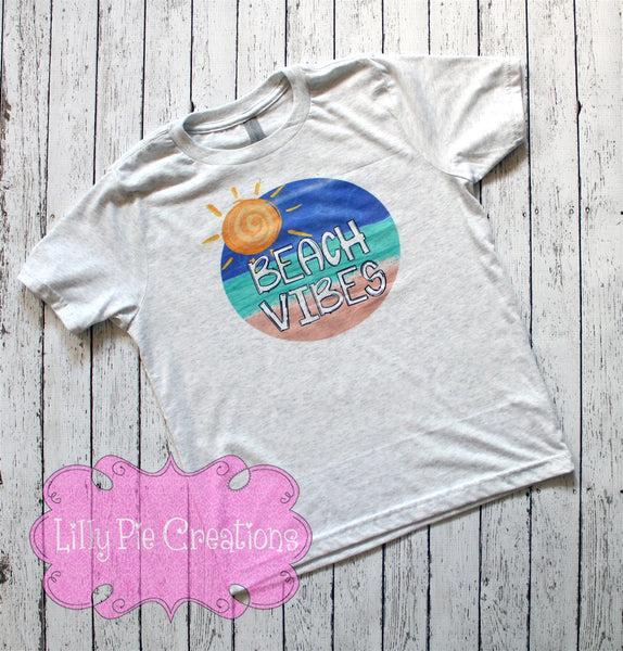 Beach Vibes Tank Top-Mommy and Me Beach Outfit -Beach Vacation Shirt