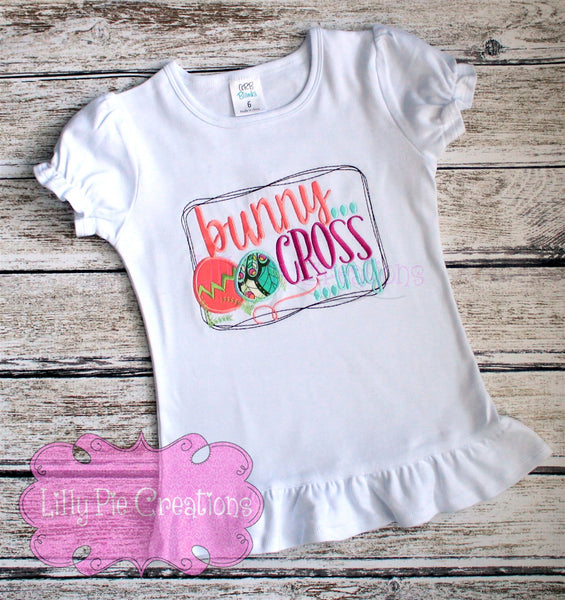 Bunny Crossing - Girls Easter Shirt - Toddler Easter Shirt