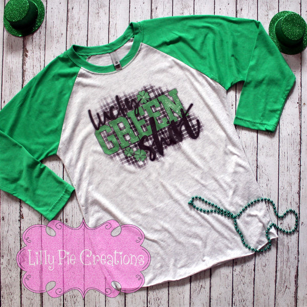 01ada188c Lucky Green Shirt - St Patrick's Day Graphic Tee – Lilly Pie Creations