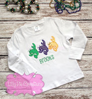 Crawfish Mardi Gras Shirt - Lilly Pie Creations