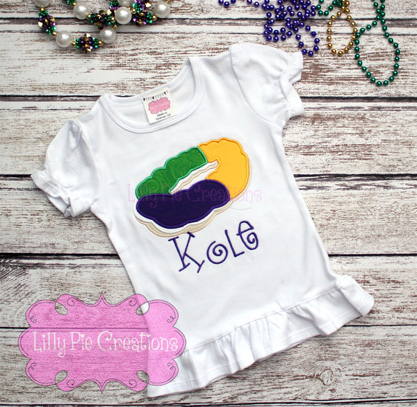 King Cake Shirt - Lilly Pie Creations