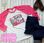 Ladies Valentine's Day Shirt - Succa for Love Valentine's Day Raglan