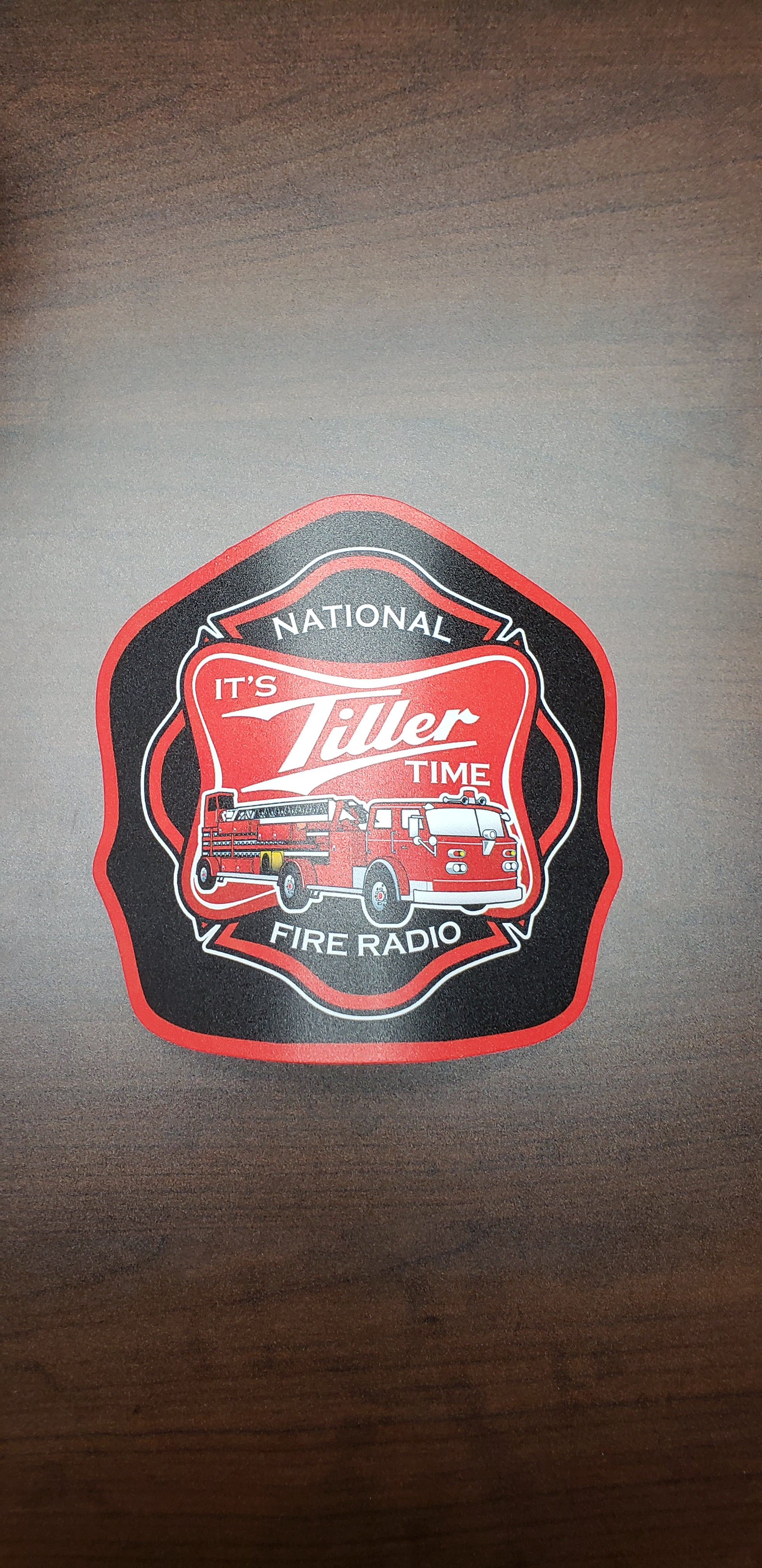 """It's Tiller Time"" - Helmet Shield by Taylor's Tins"
