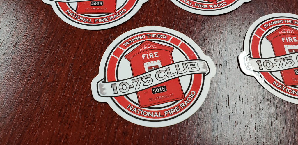 10-75 Club Sticker