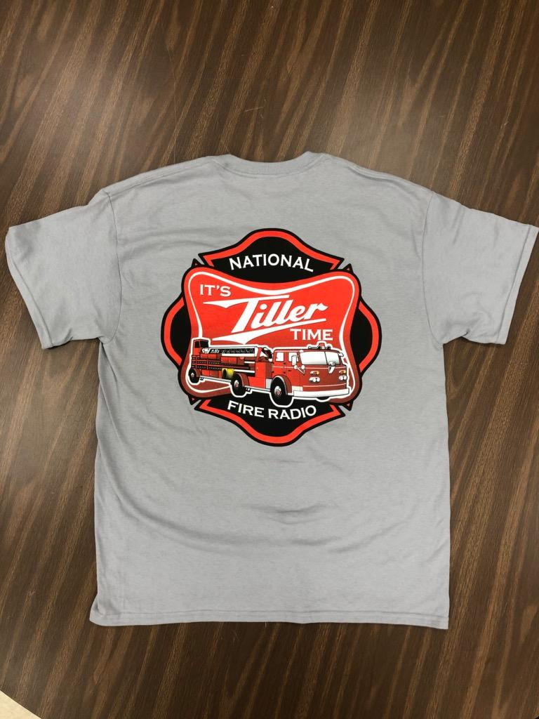 """It's Tiller Time"" - Short Sleeve, Gray"