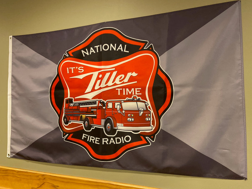 """It's Tiller Time"" Flag"