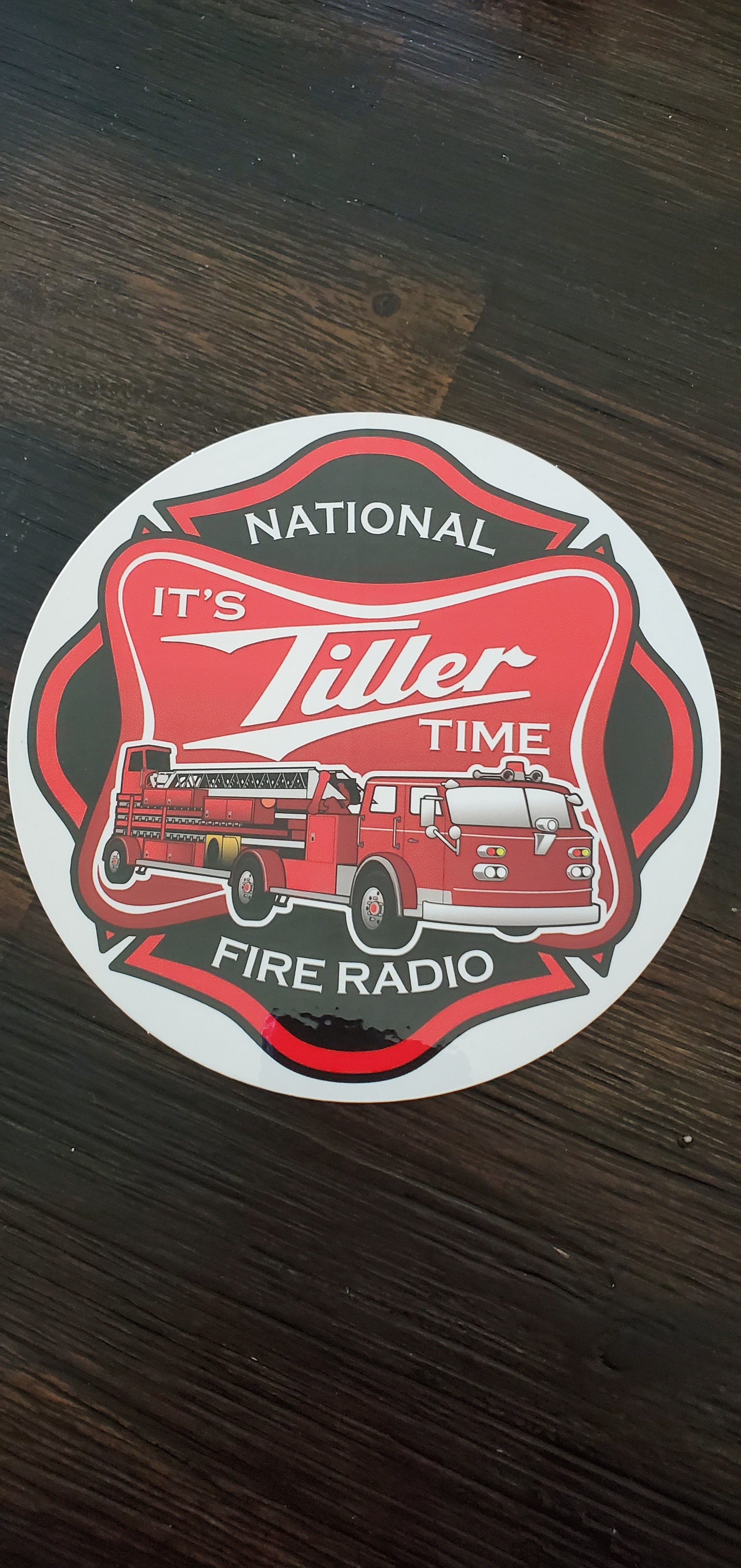 It's Tiller Time 5 inch sticker!