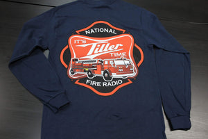 """It's Tiller Time"" - Long Sleeve, Navy"