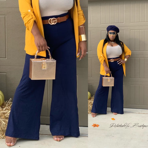 Navy Flare Pants