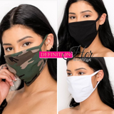 Trendy Face Mask ( CAMO & SOLIDS)