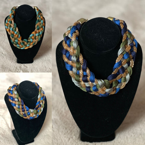 Weaved & Roped Statement Set  ( BLUE OR GREEN