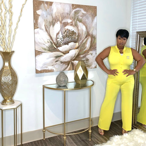 Yellow Glamour Gal Jumpsuit