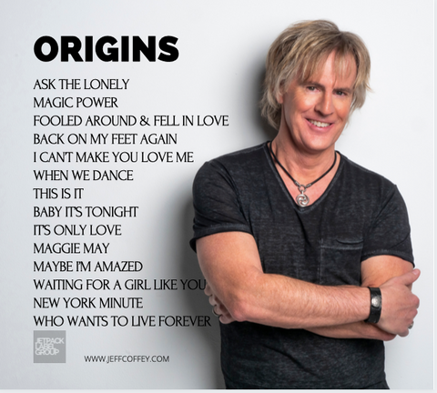 "Jeff Coffey ""Origins - Singers and Songs that Made Me"" CD - Jetpack Label Group"