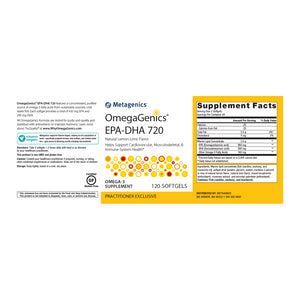 Metagenics OmegaGenics™ EPA-DHA 720 Lemon