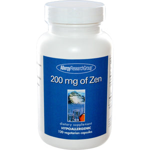 Allergy Research Group 200mg of Zen 60c Front