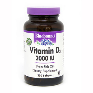 Bluebonnet Vitamin D3 2000IU 250softgels