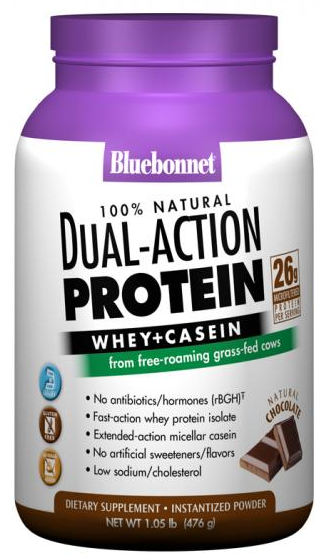 Bluebonnet Dual-Action Protein Natural Chocolate