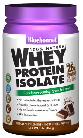 Bluebonnet Whey Protein Isolate Natural Chocolate