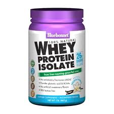 Bluebonnet Whey Protein Isolate Natural French Vanilla