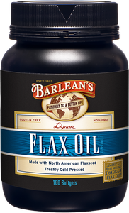 Barlean's Lignan Flaxseed Oil 100 softgels