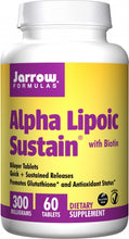 Load image into Gallery viewer, Jarrow Formulas Alpha Lipoic Sustain 300mg 60 tabs