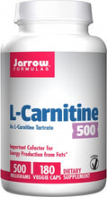 Load image into Gallery viewer, Jarrow Formulas L-Carnitine 500 180 capsules