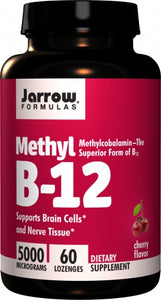 Jarrow Formulas Methyl B-12 5000mcg 60 lozenges - Cherry Flavor