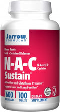 Load image into Gallery viewer, Jarrow Formulas N-A-C Sustain 600mg 100 tablets