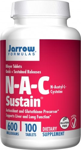 Jarrow Formulas N-A-C Sustain 600mg 100 tablets - DISCONTNUED