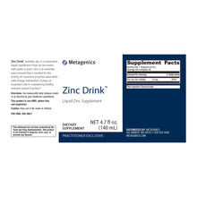Load image into Gallery viewer, Metagenics Zinc Drink™ 4.7 fl oz