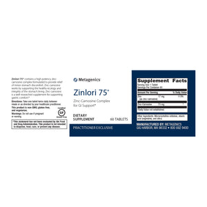 Metagenics Zinlori 75® 60 tablets