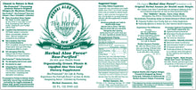 Load image into Gallery viewer, Herbal Answers Herbal Aloe Force Juice Label