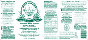 Herbal Answers Herbal Aloe Force Juice Label