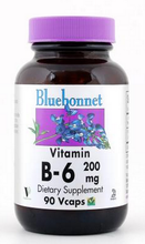 Load image into Gallery viewer, Bluebonnet Vitamin B-6 200mg