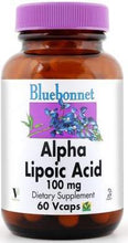 Load image into Gallery viewer, Bluebonnet Alpha Lipoic Acid 100mg 60 vcaps Front