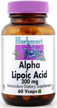 Load image into Gallery viewer, Bluebonnet Alpha Lipoic Acid 200mg 60 vcaps Front