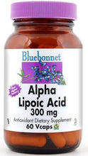 Load image into Gallery viewer, Bluebonnet Alpha Lipoic Acid 300mg 60 vcaps Front
